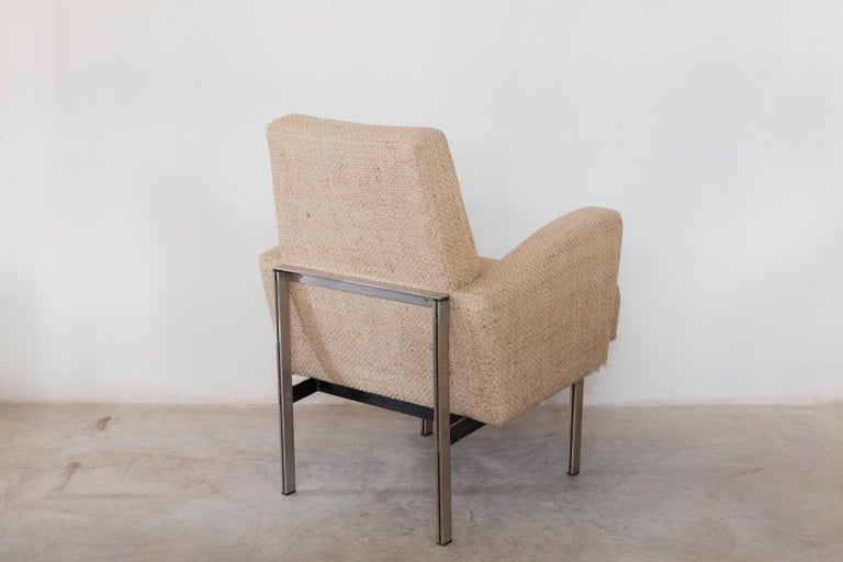 Belgian Pair of Lounge Chairs in Style of Milo Baughman for Thayer Coggin For Sale