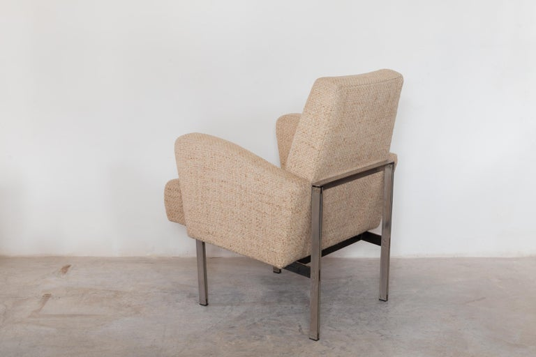 Pair of Lounge Chairs in Style of Milo Baughman for Thayer Coggin In Good Condition For Sale In Antwerp, BE