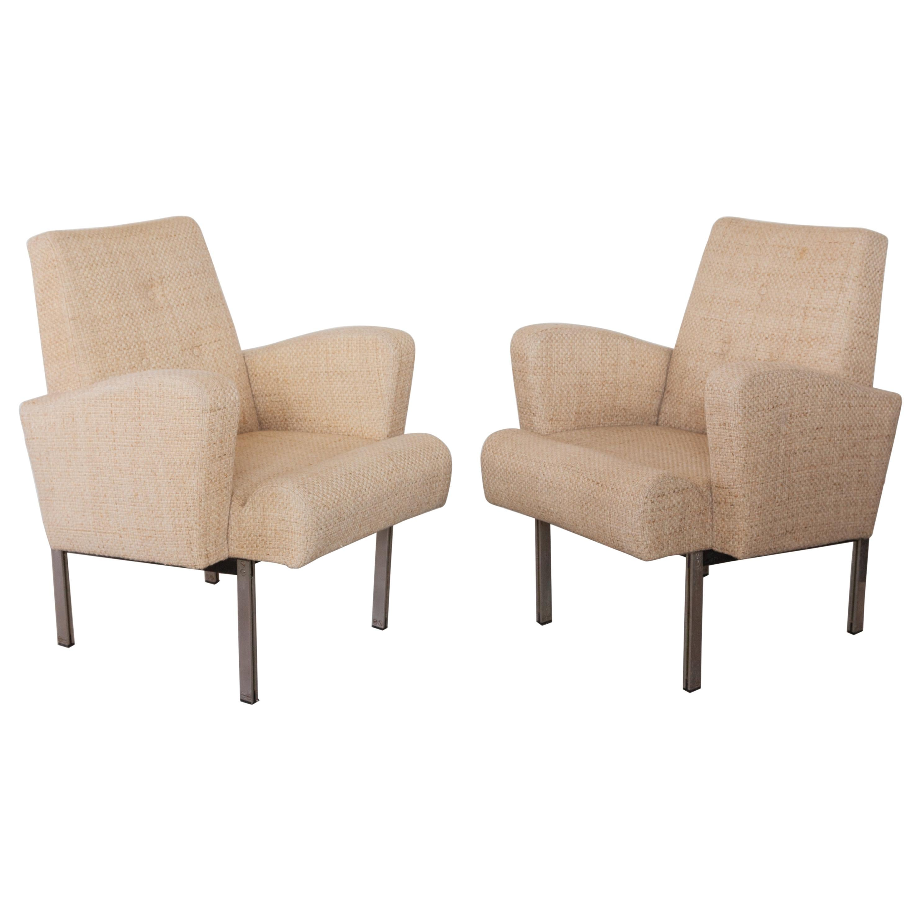 Pair of Lounge Chairs in Style of Milo Baughman for Thayer Coggin