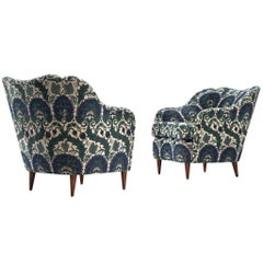 Pair of Lounge Chairs in ZAK+FOX 'Fantasma' Collection 2020 Upholstery