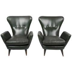 Pair of Lounge Chairs, Italian, 1950s