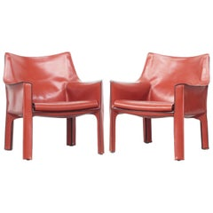 Pair of Lounge Chairs Mod, Cab by Mario Bellini for Cassina, Italy, 1970s