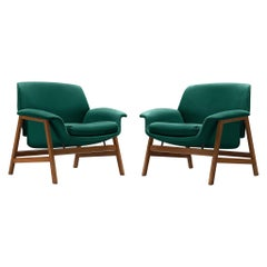 Pair of Lounge Chairs Model '849' by Gianfranco Frattini for Cassina