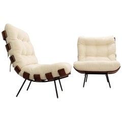 Pair of Lounge Chairs Model 'Costela' by Martin Eisler & Carlo Hauner, Brazil