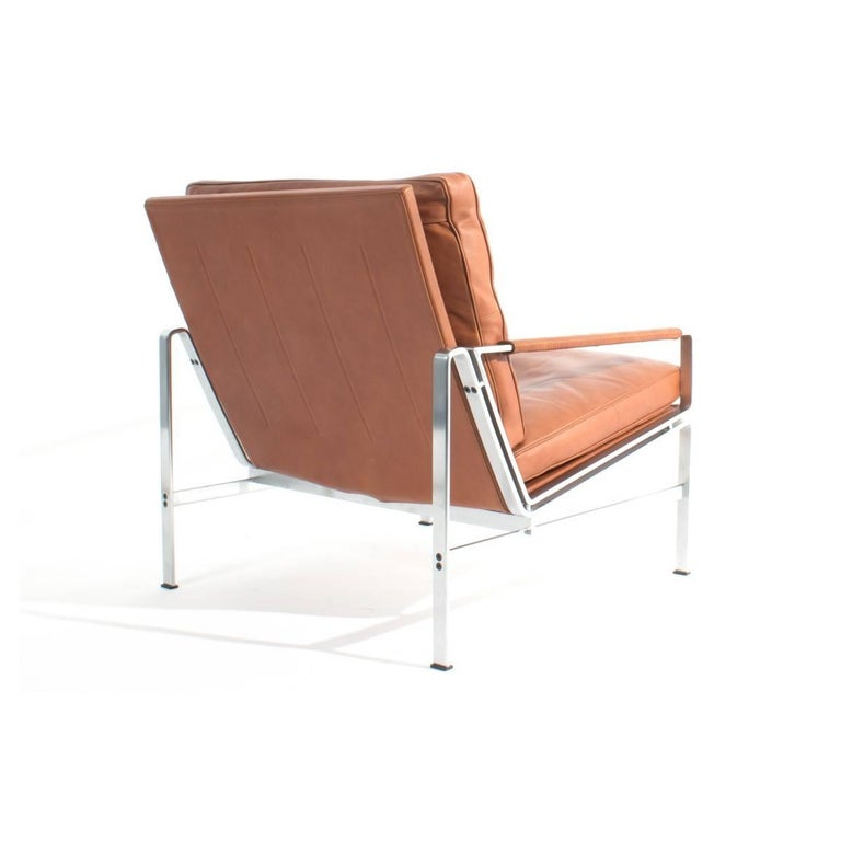 Danish Pair of Lounge Chairs Preben Fabricius and Jorgen Kastholm For Sale