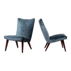 Pair of Lounge Slipper Chairs by Arno Votteler for Walter Knoll, Germany, 1950s