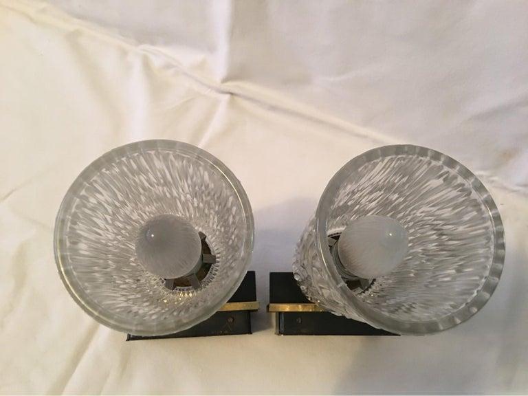 Pair of Lovely Austrian Kalmar Style Glass Sconces For Sale 5