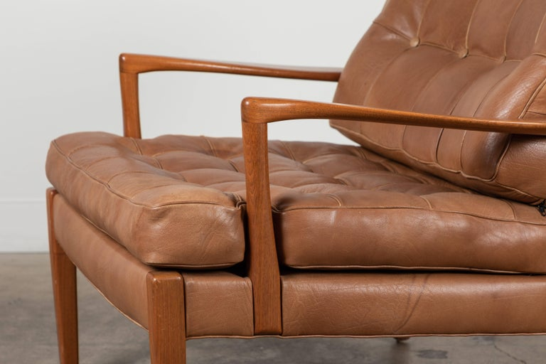 Pair of Löven Lounge Chairs by Arne Norell In Excellent Condition For Sale In Los Angeles, CA