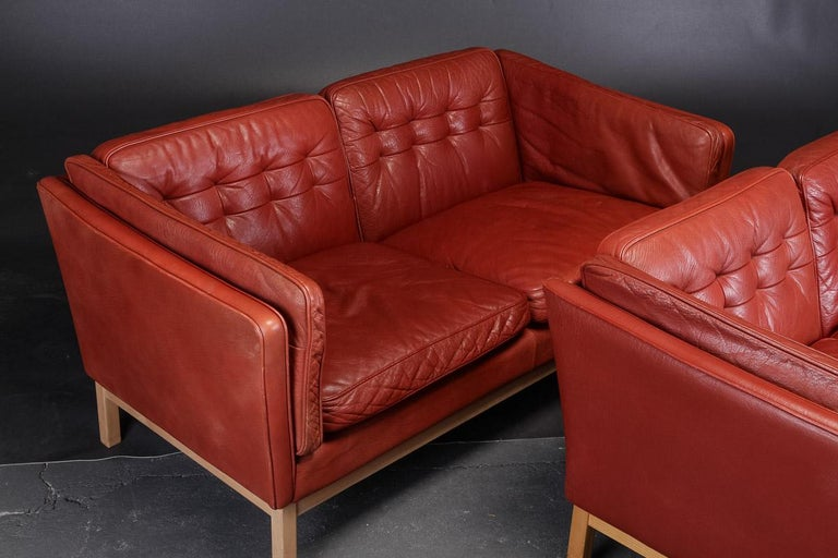 Pair of Loveseats by Vatne Møbler In Good Condition For Sale In Hudson, NY