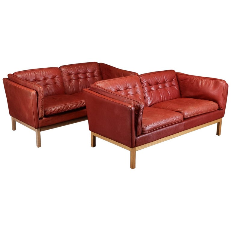 Pair of Loveseats by Vatne Møbler For Sale