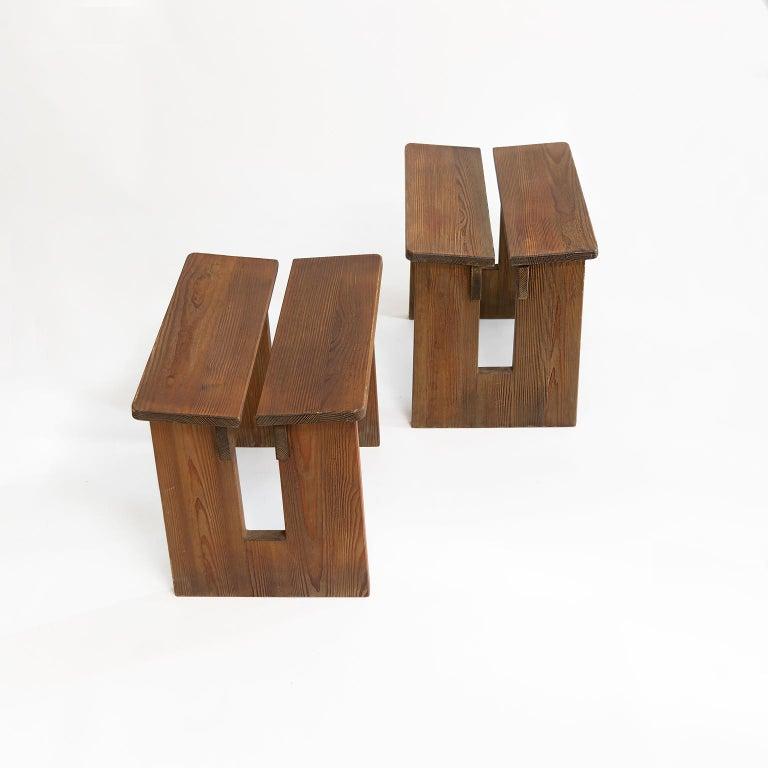 Pair of Lovö Stools by Axel Einar Hjorth, Scandinavian Modern For Sale 1