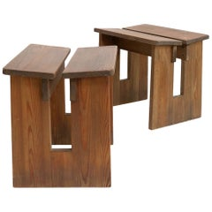 Pair of Lovö Stools by Axel Einar Hjorth, Scandinavian Modern