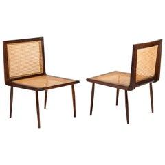 Pair of Low Chairs by Joaquim Tenreiro, Brazilian Design, circa 1950