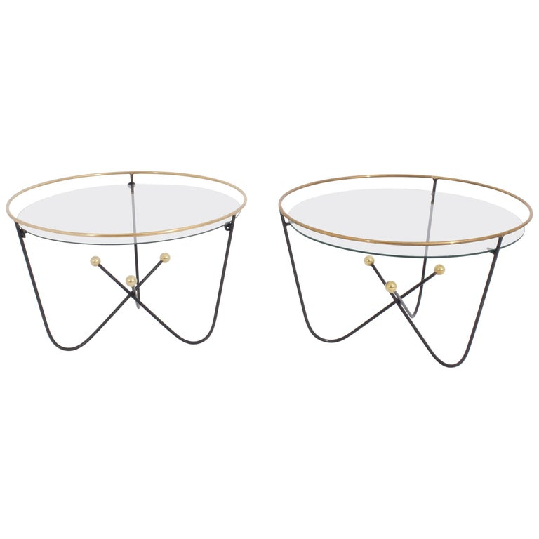 Pair of Low Side Table End Table by Edward Ihnatowicz Mars Furniture For Sale