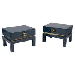 Pair of Low Side Tables by Maison Jansen, France, 1970s