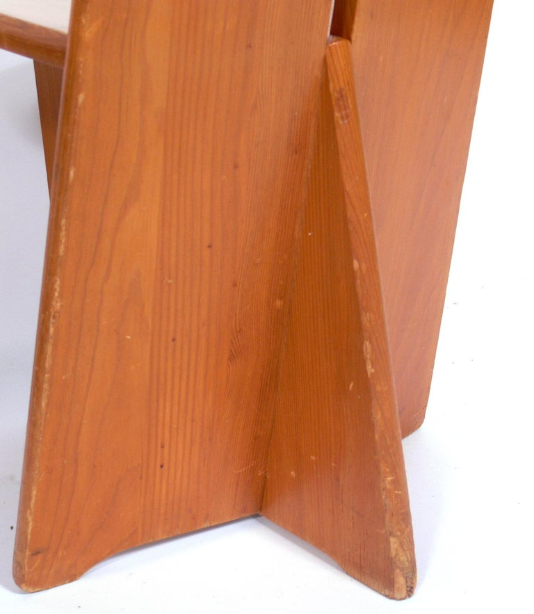 Mid-20th Century Pair of Low Slung German Constructivist Chairs For Sale