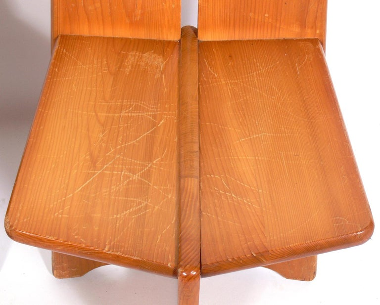 Pair of Low Slung German Constructivist Chairs For Sale 1