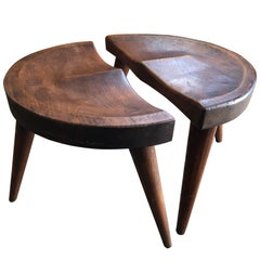 Pair of Low Stools by Arthur Cunningham New Hampshire Craftsman
