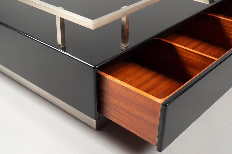 Mid-Century Modern Pair of Low Tables by Guy Lefevre for Maison Jansen, France, 1970s For Sale