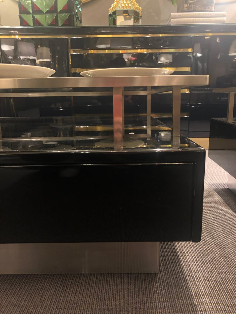 Lacquered Pair of Low Tables by Guy Lefevre for Maison Jansen, France, 1970s For Sale