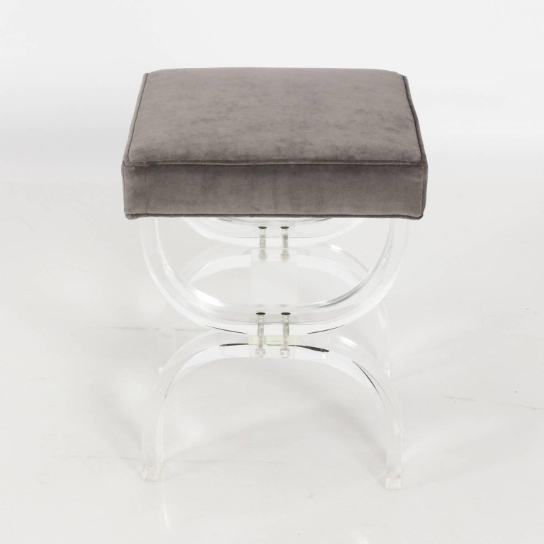 Pair of Lucite Benches by Hill Manufacturing, circa 1970 For Sale 3