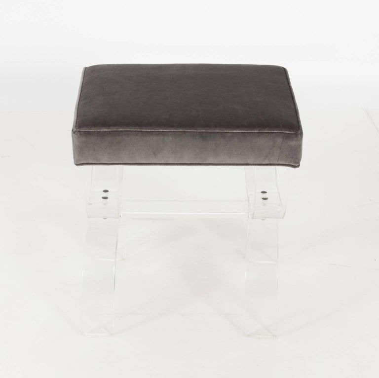 Pair of Lucite Benches by Hill Manufacturing, circa 1970 For Sale 4