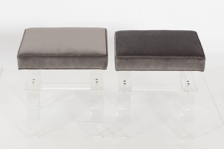 Pair of Lucite Benches by Hill Manufacturing, circa 1970 For Sale 5