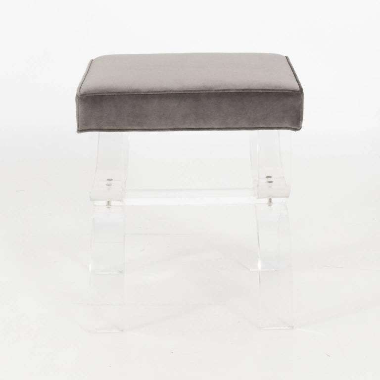 Pair of Lucite Benches by Hill Manufacturing, circa 1970 For Sale 7
