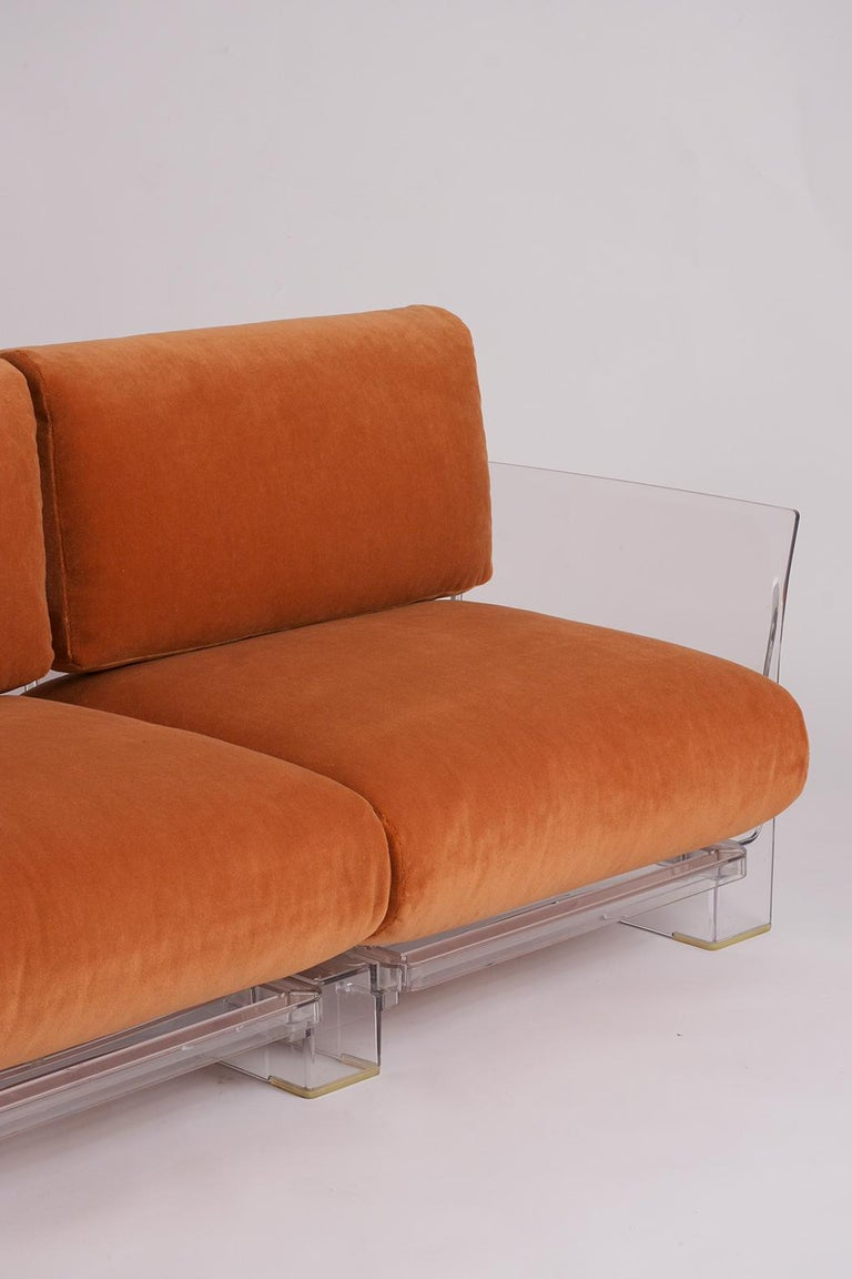Pair of Lucite Loveseats or Sofas by Piero Lissoni for Kartell For Sale 2