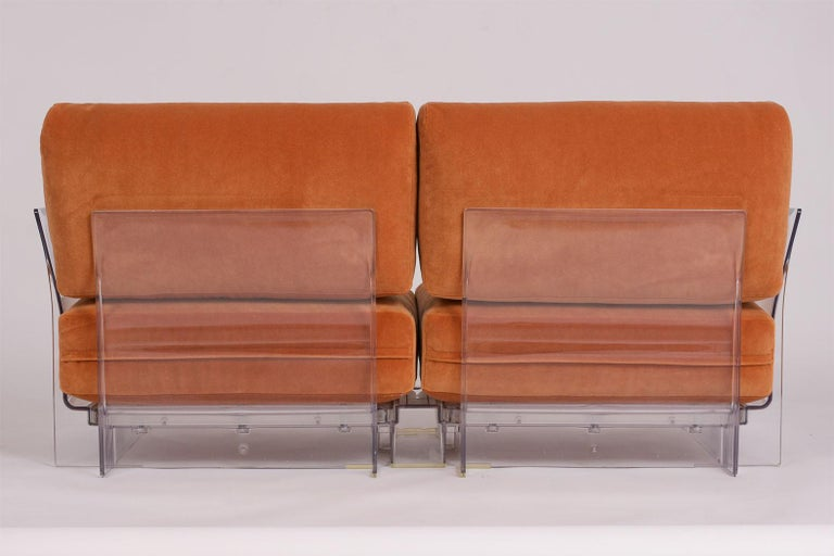 Pair of Lucite Loveseats or Sofas by Piero Lissoni for Kartell For Sale 6
