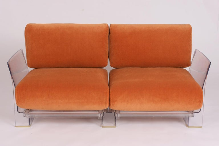 Modern Pair of Lucite Loveseats or Sofas by Piero Lissoni for Kartell For Sale