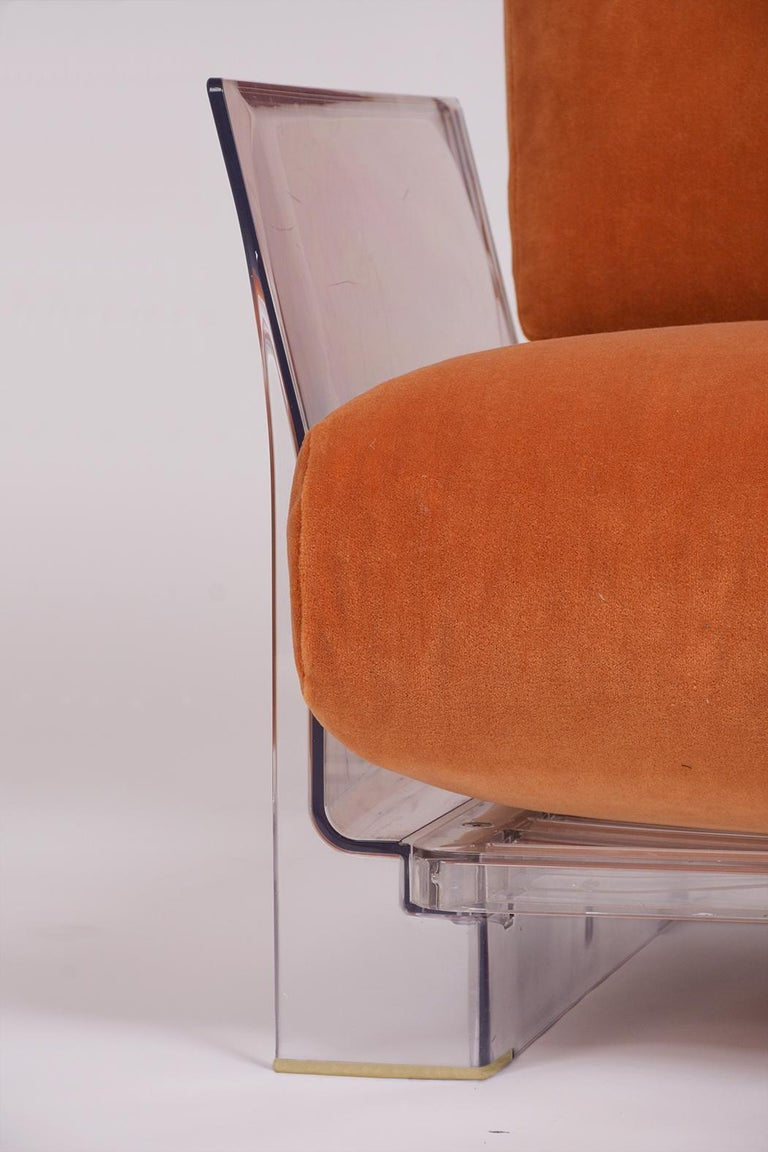 Late 20th Century Pair of Lucite Loveseats or Sofas by Piero Lissoni for Kartell For Sale