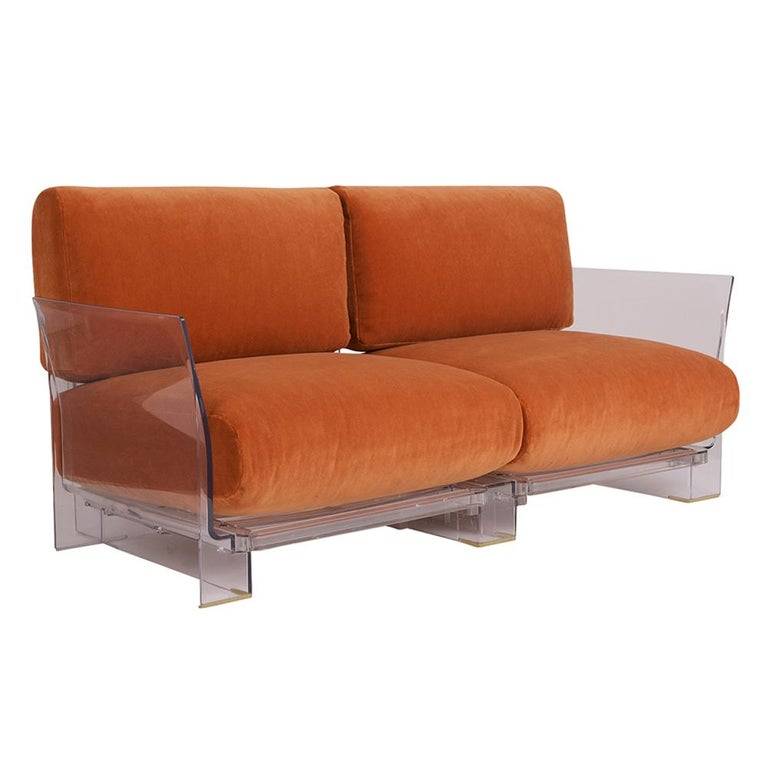 Pair of Lucite Loveseats or Sofas by Piero Lissoni for Kartell For Sale 1