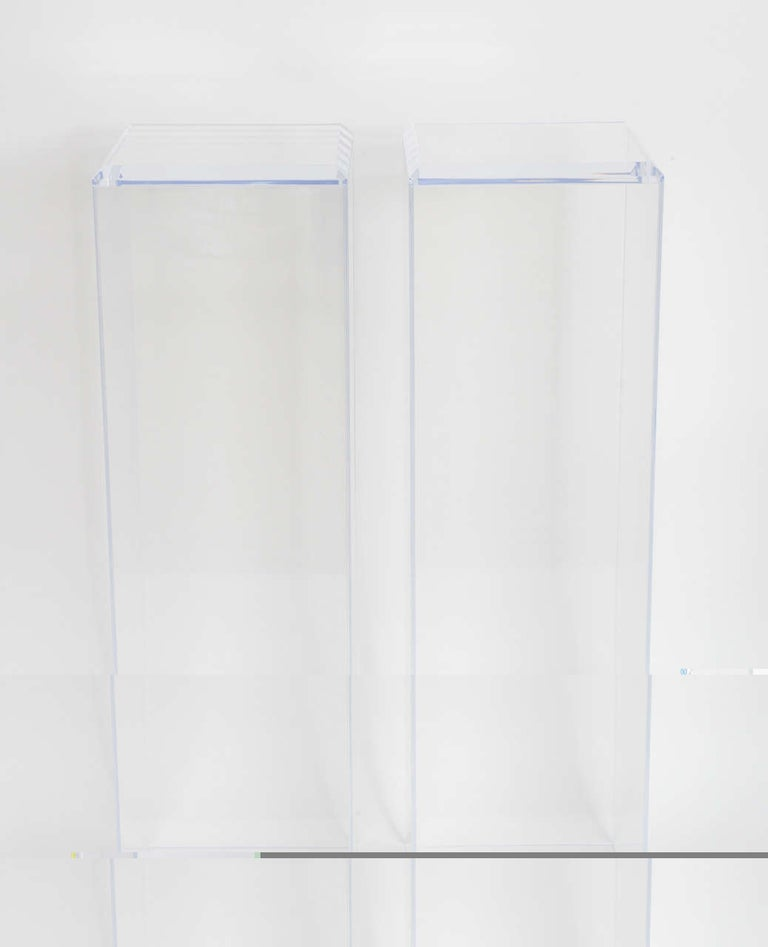 Modern Pair of Lucite Pedestals by Iconic Snob Galeries