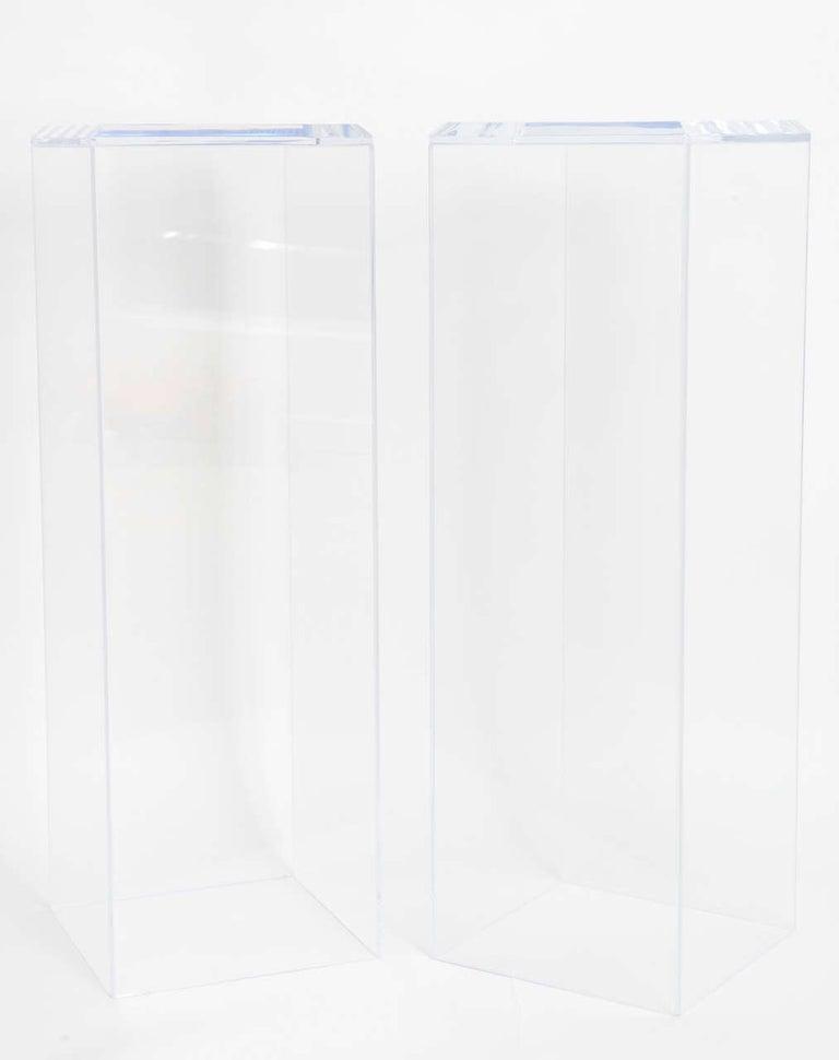 Pair of Lucite Pedestals by Iconic Snob Galeries 1