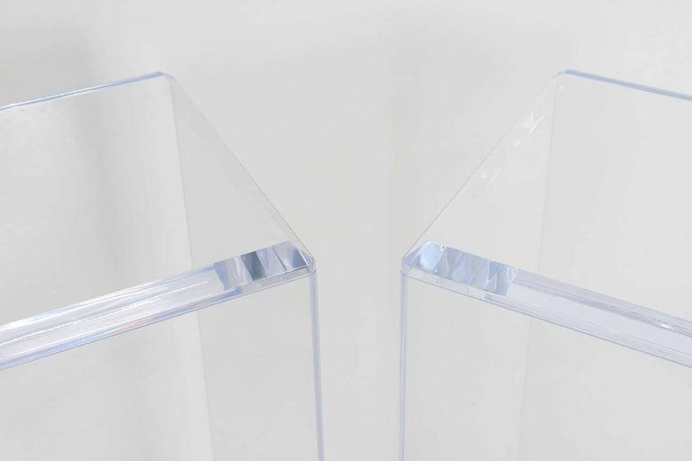 Pair of Lucite Pedestals by Iconic Snob Galeries 2