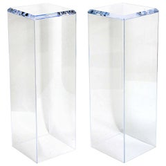 Pair of Lucite Pedestals by Iconic Snob Galeries