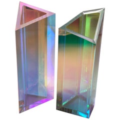 Pair of Lucite Vase by Brajak Vitberg