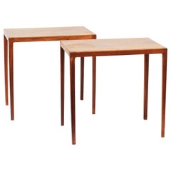Pair of Ludvig Pontoppidan Danish Modern Rosewood Side Tables