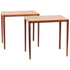 Pair of Ludvig Pontoppidan Danish Modern Rosewood Side Tables