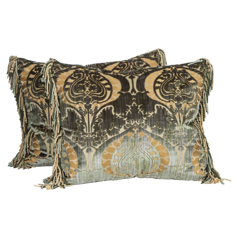 Pair of Luigi Bevilacqua Silk Velvet Pillows For Sale
