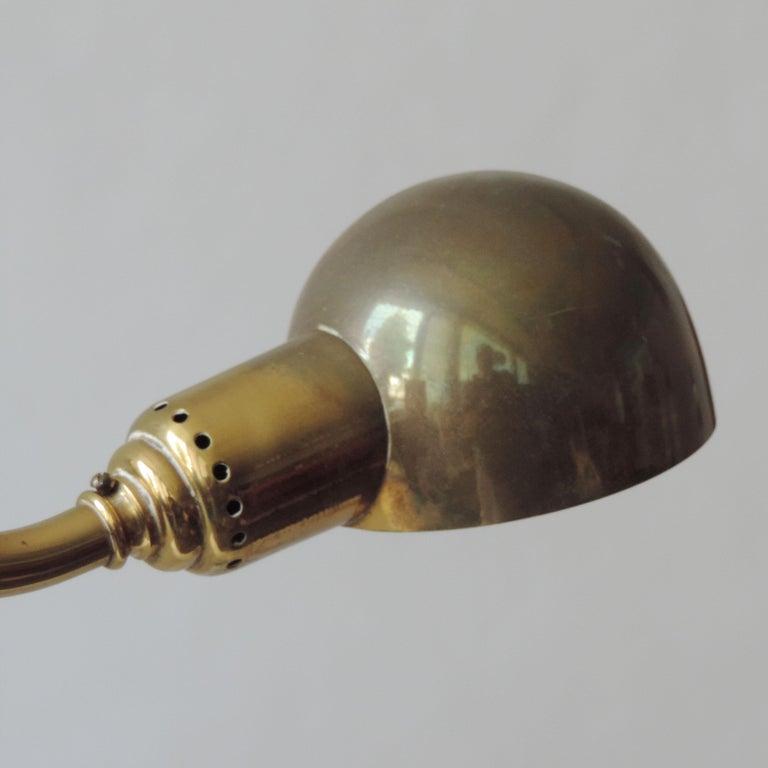 Pair of Luigi Caccia Dominioni LP15 'Tromba' Brass Wall Lamps for Azucena In Good Condition In Milan, IT