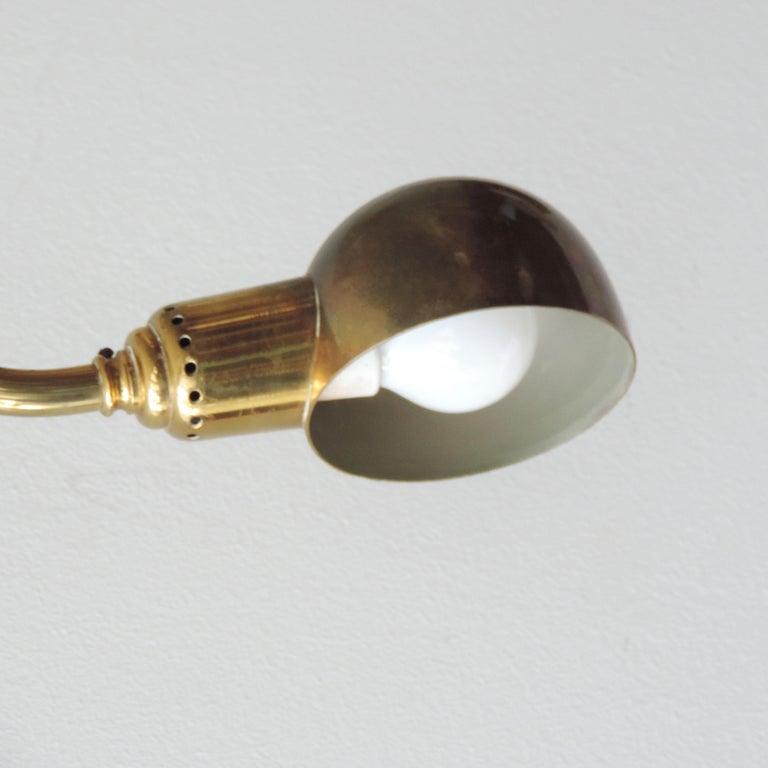 Pair of Luigi Caccia Dominioni LP15 'Tromba' Brass Wall Lamps for Azucena 1