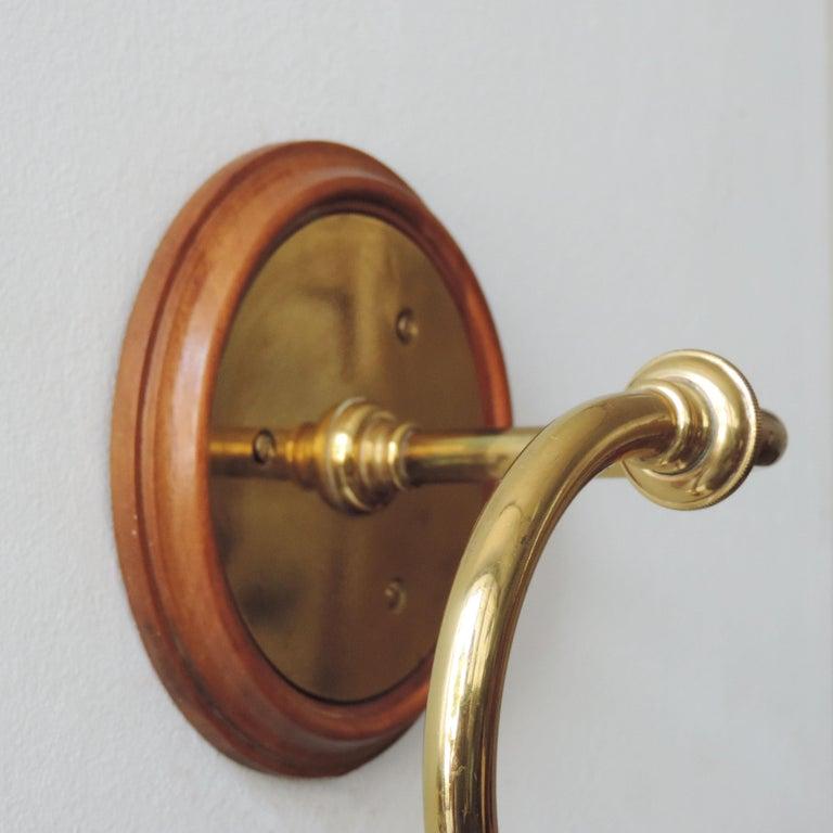 Pair of Luigi Caccia Dominioni LP15 'Tromba' Brass Wall Lamps for Azucena 2