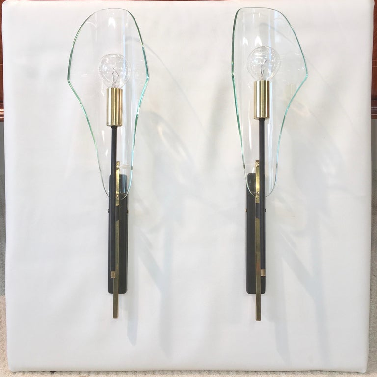 Mid-Century Modern Pair of Luigi Molin Sconces For Sale