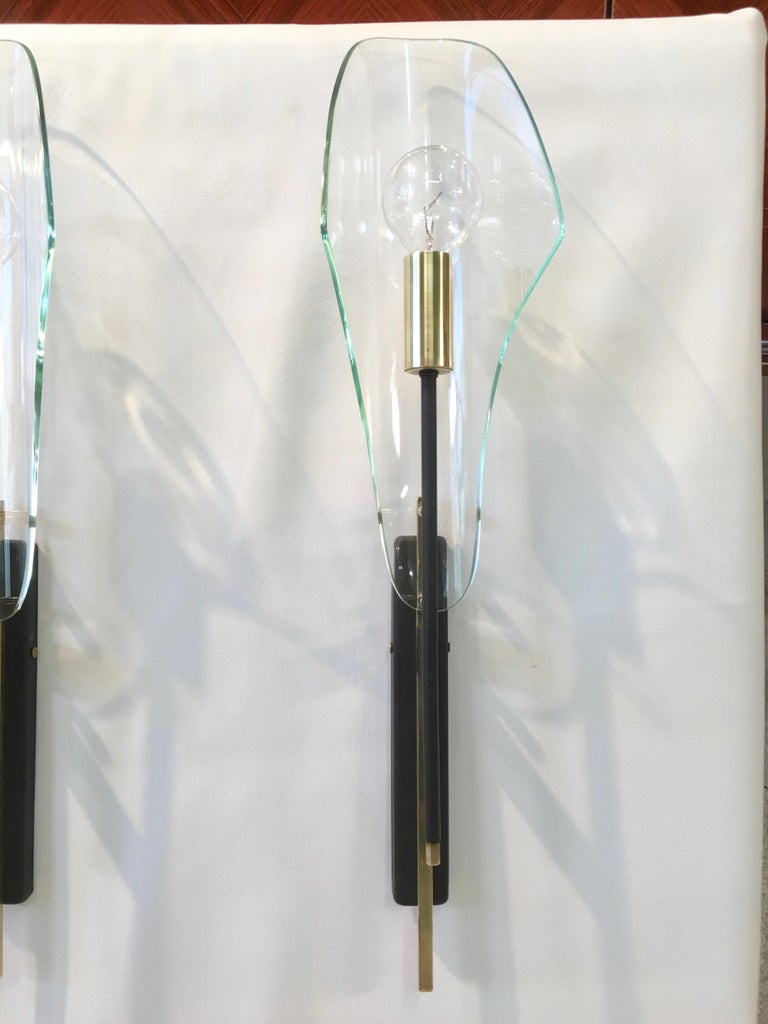 Brass Pair of Luigi Molin Sconces For Sale