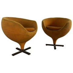 """Pair of """"Luna"""" Chairs by Pierre Guariche for Meurop, France, 1960s"""