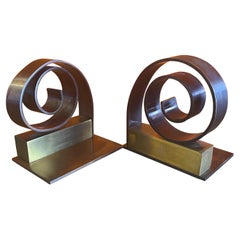 Pair of Machine Age Art Deco Bookends by Walter Von Nessen for Chase & Co.