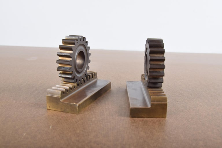 Pair of Machine Age Bookends For Sale 5