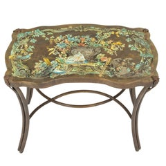 """Pair of """"Madame Pompadour"""" Enameled Bronze Tables by Philip and Kelvin LaVerne"""